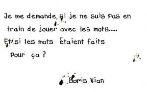 Aphorisme Boris Vian
