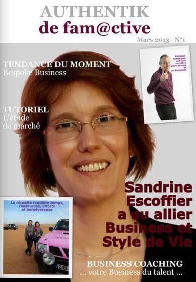 En cover et au centre du magazine en ligne. Une belle vitrine !