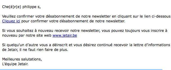 Lourdeurs littéraires de Jetair.