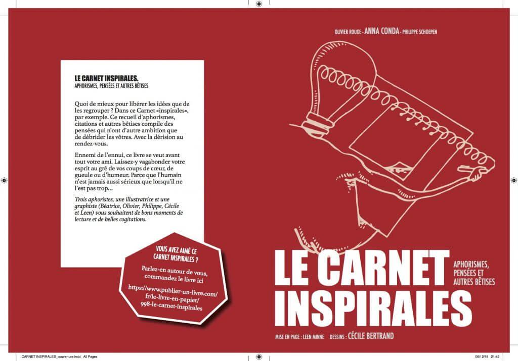 Quatrième et première de couverture du Carnet inspirales