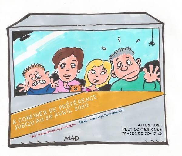 Cartoon avec Denis Mayeur sur le confinement pendant la crise du coronavirus