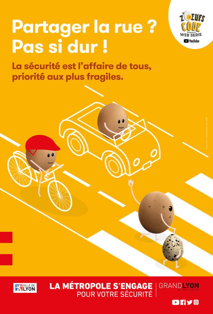 une nouvelle campagne sur le sujet du Partage de la rue. Création Sam pour NATIVE communication
