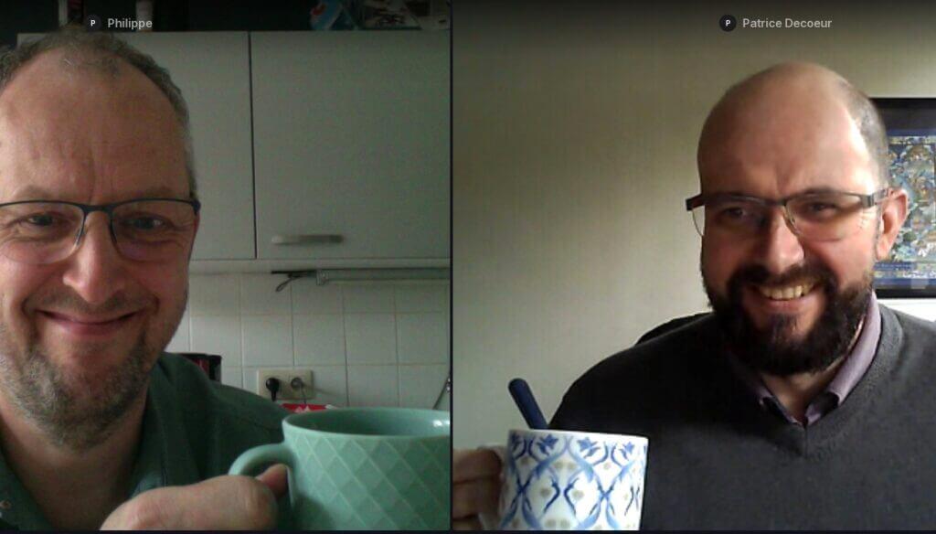 Un café virtuel entre deux freelances. Merci Patrice, merci Machine à café !